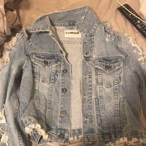 LF destroyed denim jacket